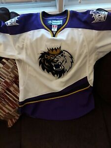 Manchester Monarchs Authentic Game Issued Jersey Size 52 Fight Strap Reebok