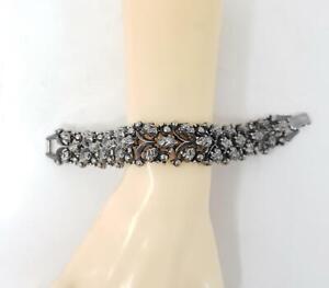 Vintage Florenza Silver Tone Nut Berry Link Bracelet