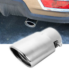 Universal Chrome Stainless Steel Car Rear Oval Exhaust Pipe Tail Muffler Tip