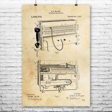 Telephone Switchboard Poster Print Repair Shop Decor Repairman Gift Telecom Gift