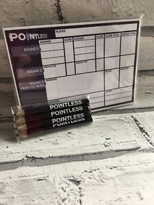 Pointless The Game Replacement Score Pad And Pencils Game Replacement Parts