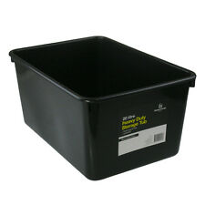 3 x 20L Black Heavy Duty Medium Plastic Storage Tubs Containers Bin Tub