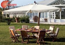 PARASOL DECENTRALIZED STRUCTURE IN WOOD 3X4MT GARDEN FURNITURE OUTER ART.93816