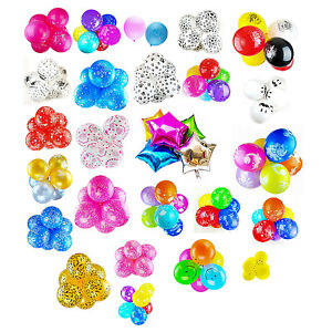 Pack of 10 - Latex / Foil Balloons Party Decoration Kids Design