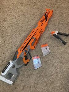 NERF AccuStrike RAPTORSTRIKE Sniper Dart Gun With 2 Clips & Bipod Excellent