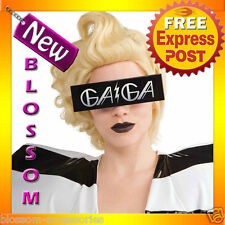 A168 Ladies Lady Gaga Printed Black Costume Glasses Costume Accessory