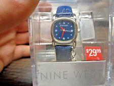 NEW, NINE West 9W/1520 Quartz Ladies Watch BLUE BAND