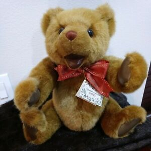 Gund Jointed Bear Signed Autographed by Rita Swedlin Raiffe Numbered of 1300