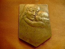 ANTIQUE TUBERCULOSIS HIGH RELIEF BRONZE SIGNED GOTTUZZO Y PIANA 1935 MEDAL