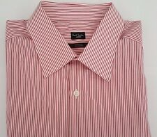 Paul Smith Camicia Taglia 16.5 extra-large rossa strisce Mayfair