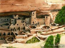 "Water Color Print of Lynn Wilkerson's ""Mesa Verde"""