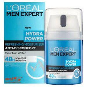 New!!! 2 x LOREAL MEN EXPERT HYDRA POWER REFRESHING MOISTURISER  50 ML Each