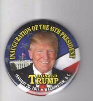 #5  2017 pin DONALD TRUMP pinback INAUGURATION 45th PRESIDENT button January 20