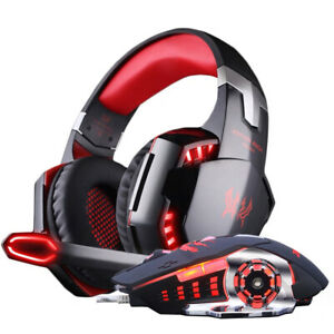 Gaming Headset Stereo Gamer Headphones with microphone Earphone +Gaming Mouse 40