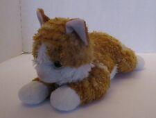 "Aurora Flopsie Orange Tabby Cat Floppy Beanbag Plush Stuffed Animal 12"" Fur Worn"