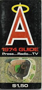 1974 CALIFORNIA ANGELS MLB MEDIA GUIDE VINTAGE FREE SHIPPING