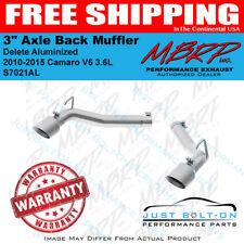 """MBRP 2010-2015 Camaro V6 3.6L 3"""" Axle Back Muffler Delete Aluminized #S7021AL"""