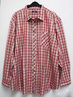 NEU Übergröße schickes Herren Karo Langarm Hemd rot weiß Gr. 4XL (49/50) (64/66)