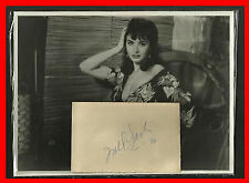 ISABEL SARLI EROTIC ACTRESS ORIGINAL HANDSIGNED AUTOGRAPH and PHOTO From 1958