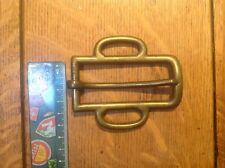 Looped Collar Harness Buckle Solid Brass 32mm - Individual