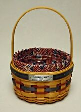 Longaberger 1997 Inaugural Basket with Liner and Protector Take a Look!