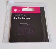 iPhone & Android SIM card Adapter Kit Nano to Micro 4-in-1 Ejection Key T-Mobile