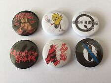 6 Queens of the Stone age button Badges No One Knows Go With The Flow Kyuss