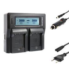 Batterie Dual Chargeur pour Casio np-120 | Exilim ex-zs15 ex-zs20 ex-zs30 | 90337
