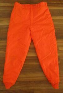 Woolrich Thermo Loft Blaze Orange LARGE 36/38 X 31 Insulated Cuffed Pants  s9