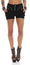 11022 Sexy Stretch-Stoff Damen Hotpants Shorts kurze Hose