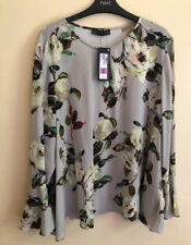 Marks And Spencer Ladies Grey Blouse Top UK 22 BNWT Women Winter Floral M&S