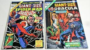 GIANT SIZE DRACULA  AND SPIDERMAN # 1 GIANT SIZE DRACULA # 2  LILITH! HORROR LOT