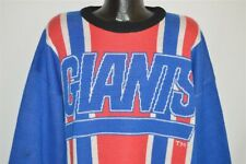 vintage 80s NEW YORK GIANTS NYC BLUE STRIPED RIDDELL ATHLETIC SWEATER SZ XL