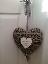 WOODEN HEART WALL PLAQUE