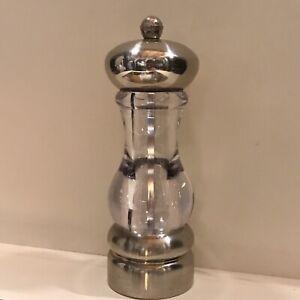 Olde Thompson Carbon Steel Lucite Salt or Pepper mill grinder Salt Pepper shaker