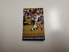 RS20 UCLA 1986 Men's Soccer Pocket Schedule - Metropolitan Life