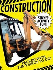 Construction Sticker Activity Fun by Libby Walden (2015, Paperback)