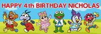 """36"""" X 12"""" - Muppet Babies Birthday Party Banner - Personalized Any Name, Any Age"""