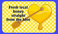 21 FRESH HONEY BEE KEEPING,PERSONALISED GLOSSY CRAFT STICKERS, SEALS LABELS(216)