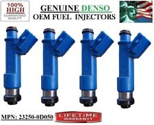 4 NEW OEM DENSO #23250-0D050 Fuel Injectors For 2004-2008 Toyota Corolla 1.8L I4
