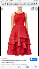 Adrianna Papell Red Satin cocktail Evening Dress Size 12 Worn Once