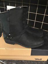 Teva De La Vina Dos Chelsea Black Womens Leather  Ankle Boots Uk size 9
