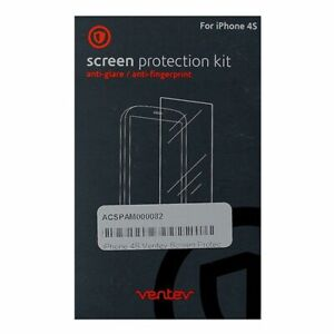 Ventev Screen Protectors for iPhone 4/4s - Retail Packaging - Clear (2 Pack)