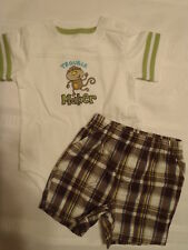 JUMPING BEANS Boys 12 Month Bodysuit Shorts Outfit NWT