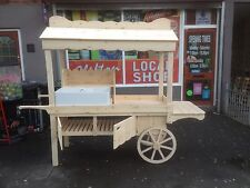 heavy duty pine barrow cart shop sales market stall trader catering fruit