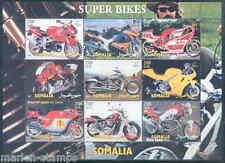 SOMALIA SUPER BIKES MOTORCYCLES  SHEET OF NINE   MINT NH