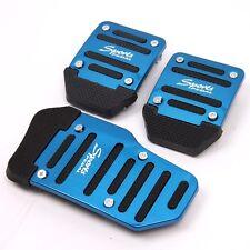 3Pcs Blue Manual Car Auto Pedals Pad Racing Sports Non-Slip Aluminum Universal