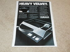 Yamaha Px-2, Px-3 Platine Ad, 1980, 1 Pg , Article