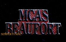 MCAS BEAUFORT SCRIPT HAT LAPEL VEST PIN UP US MARINES VETERAN PILOT CREW GIFT