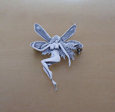 Solid Sterling Silver Angel, Fairy Brooch 40 mm by 27 mm